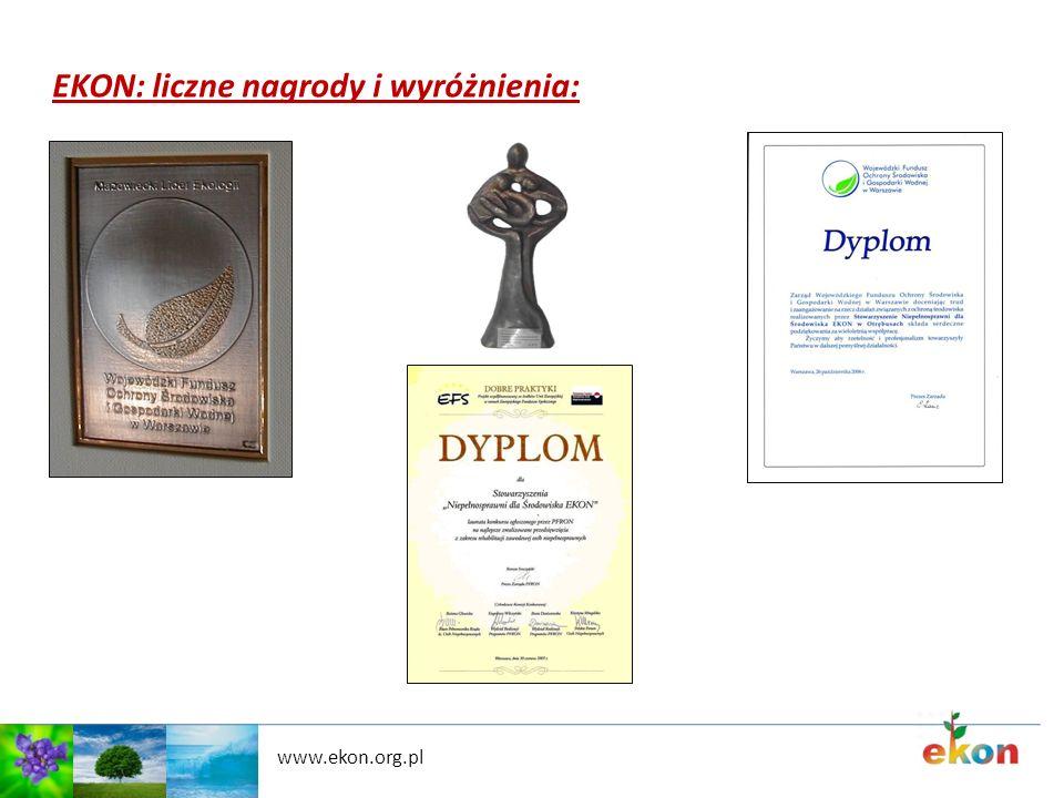 www.ekon.org.pl EKON: liczne nagrody i wyróżnienia: