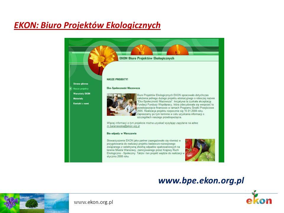 www.ekon.org.pl EKON: Biuro Projektów Ekologicznych www.bpe.ekon.org.pl