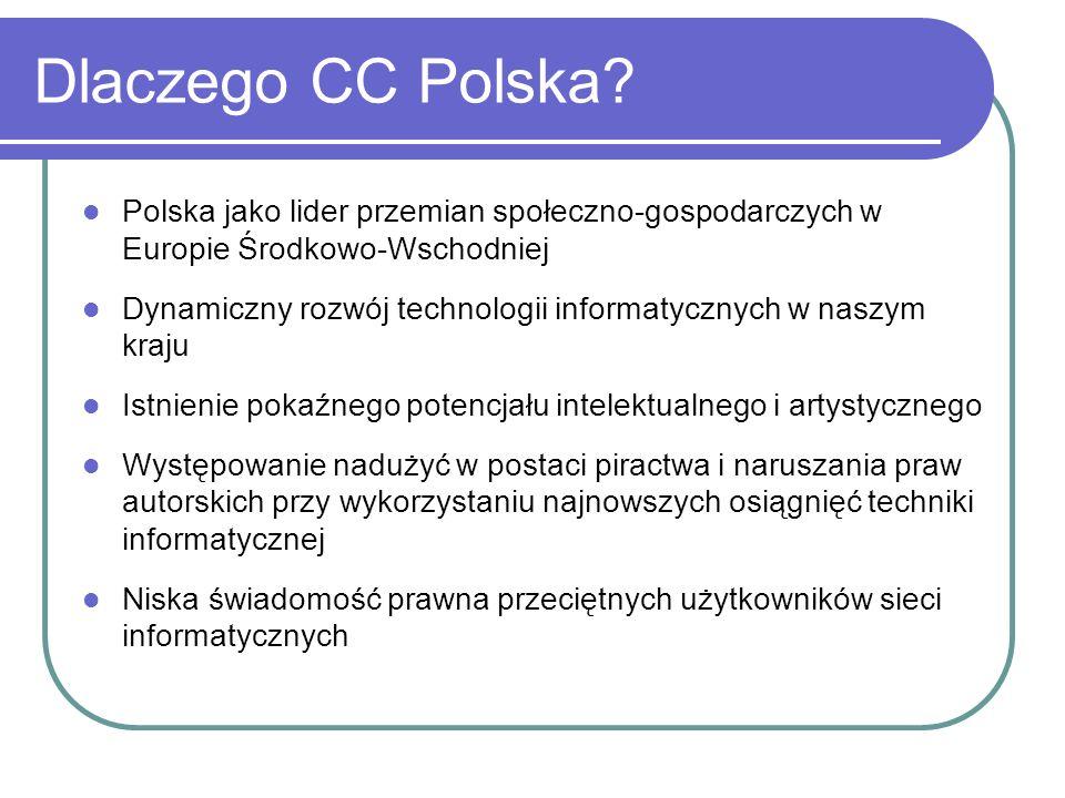 Licencje CC w wersji polskiej http://creativecommons.org/licenses/by-nc/2.0/pl/ Uznanie autorstwa - Użycie niekomercyjne 2.0 Polska http://creativecommons.org/licenses/by-nc/2.0/pl/ + Uznanie autorstwa - Na tych samych warunkach 2.0 Polska http://creativecommons.org/licenses/by-sa/2.0/pl/ Uznanie autorstwa - Na tych samych warunkach 2.0 Polska http://creativecommons.org/licenses/by-sa/2.0/pl/ +