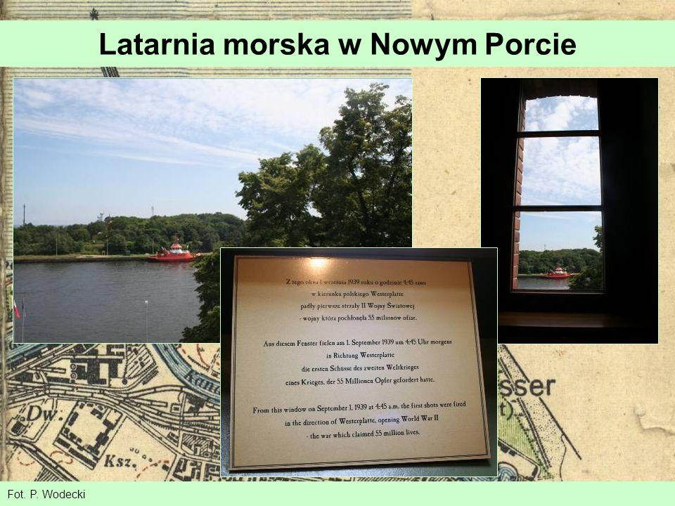 Latarnia morska w Nowym Porcie Fot. P. Wodecki