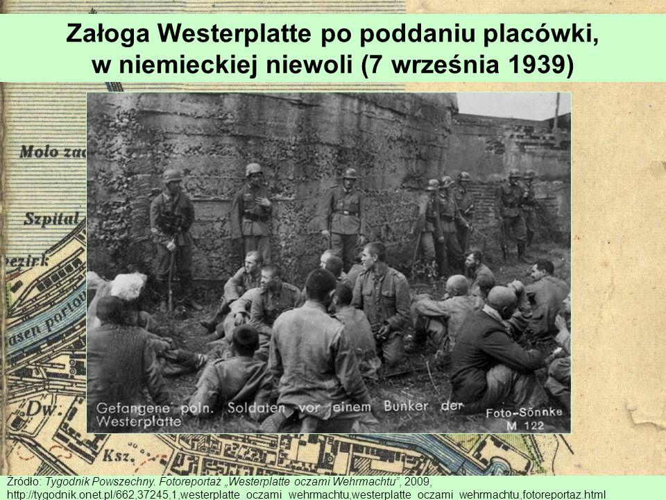 Załoga Westerplatte po poddaniu placówki, w niemieckiej niewoli (7 września 1939) Źródło: Tygodnik Powszechny. Fotoreportaż Westerplatte oczami Wehrma