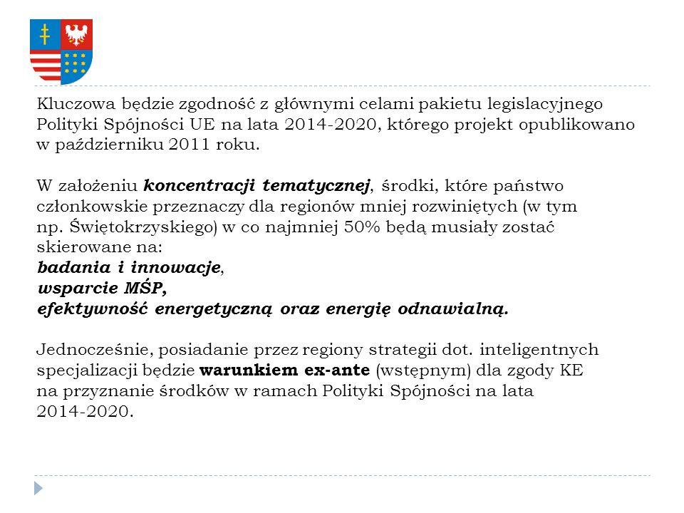 Kluczowa będzie zgodność z głównymi celami pakietu legislacyjnego Polityki Spójności UE na lata 2014-2020, którego projekt opublikowano w październiku 2011 roku.