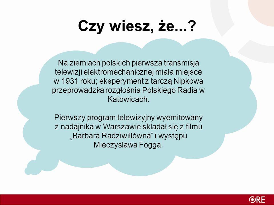 Czy wiesz, że...? Na ziemiach polskich pierwsza transmisja telewizji elektromechanicznej miała miejsce w 1931 roku; eksperyment z tarczą Nipkowa przep