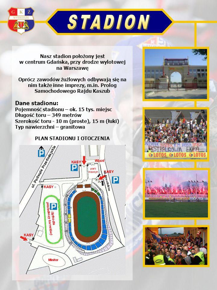 Nasz stadion położony jest w centrum Gdańska, przy drodze wylotowej na Warszawę Oprócz zawodów żużlowych odbywają się na nim także inne imprezy, m.in.