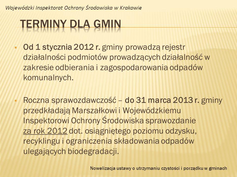 Od 1 stycznia 2012 r. gminy prowadzą rejestr działalności podmiotów prowadzących działalność w zakresie odbierania i zagospodarowania odpadów komunaln