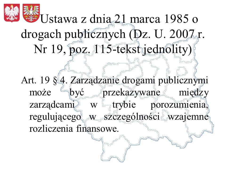 Ustawa z dnia 21 marca 1985 o drogach publicznych (Dz.