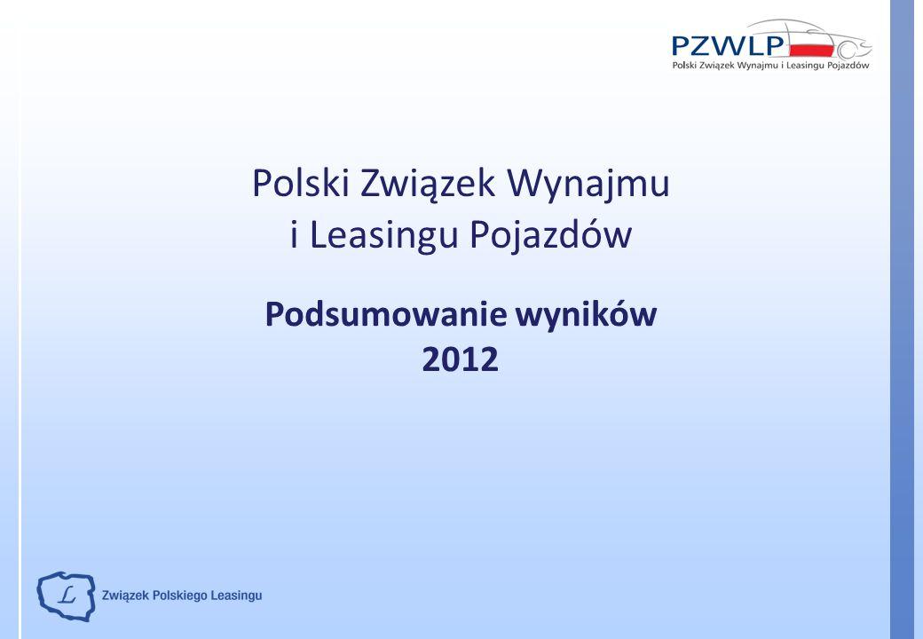 Polski Związek Wynajmu i Leasingu Pojazdów Podsumowanie wyników 2012