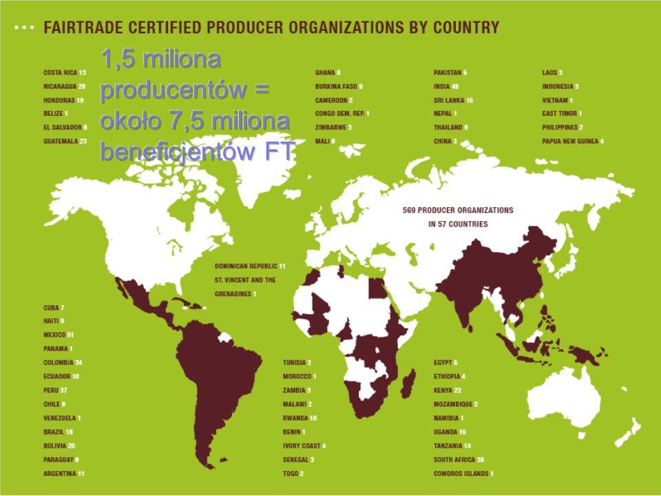 Certyfikacja Sprecyzowane zasady Wyjątkowość na półce 1988 (Holandia) – certyfikowana kawa 1997 – FLO i znak FT (produkt) 2004 – IFAT i znak FTO (organizacja)
