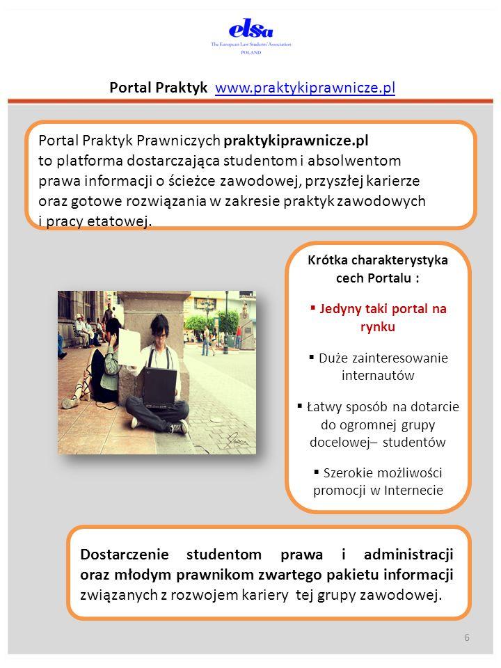 Portal Praktyk www.praktykiprawnicze.plwww.praktykiprawnicze.pl Które portale internetowe uważasz za cenne źródła informacji na temat prawniczego rynku pracy.
