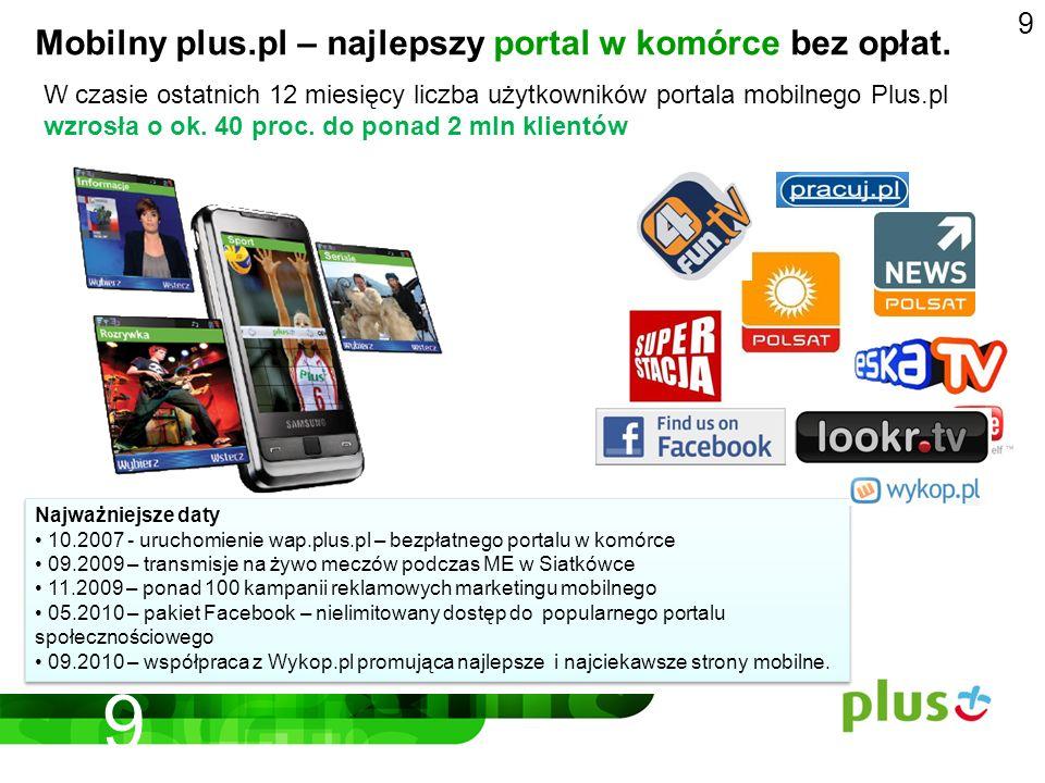 9 Mobilny plus.pl – najlepszy portal w komórce bez opłat.