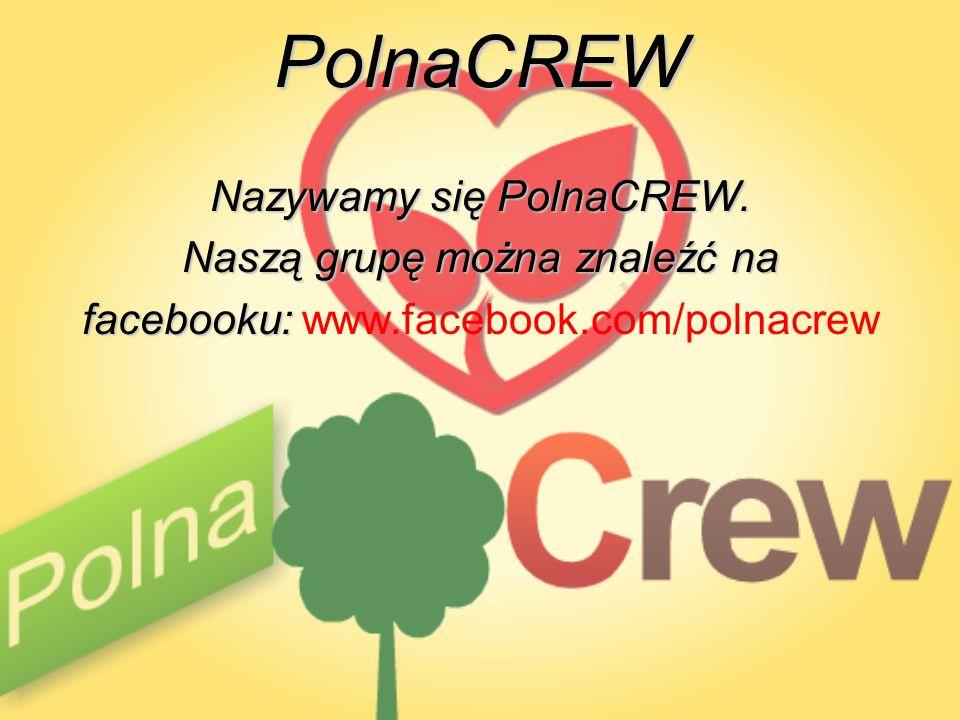 PolnaCREW Nazywamy się PolnaCREW. Naszą grupę można znaleźć na facebooku: facebooku: www.facebook.com/polnacrew