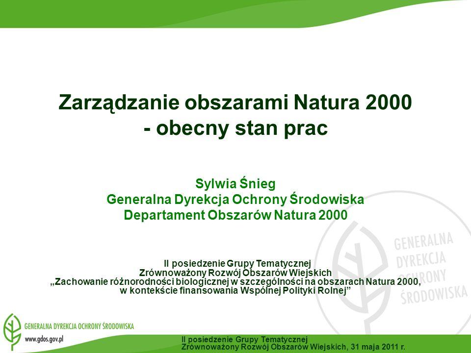 II posiedzenie Grupy Tematycznej Zrównoważony Rozwój Obszarów Wiejskich, 31 maja 2011 r.