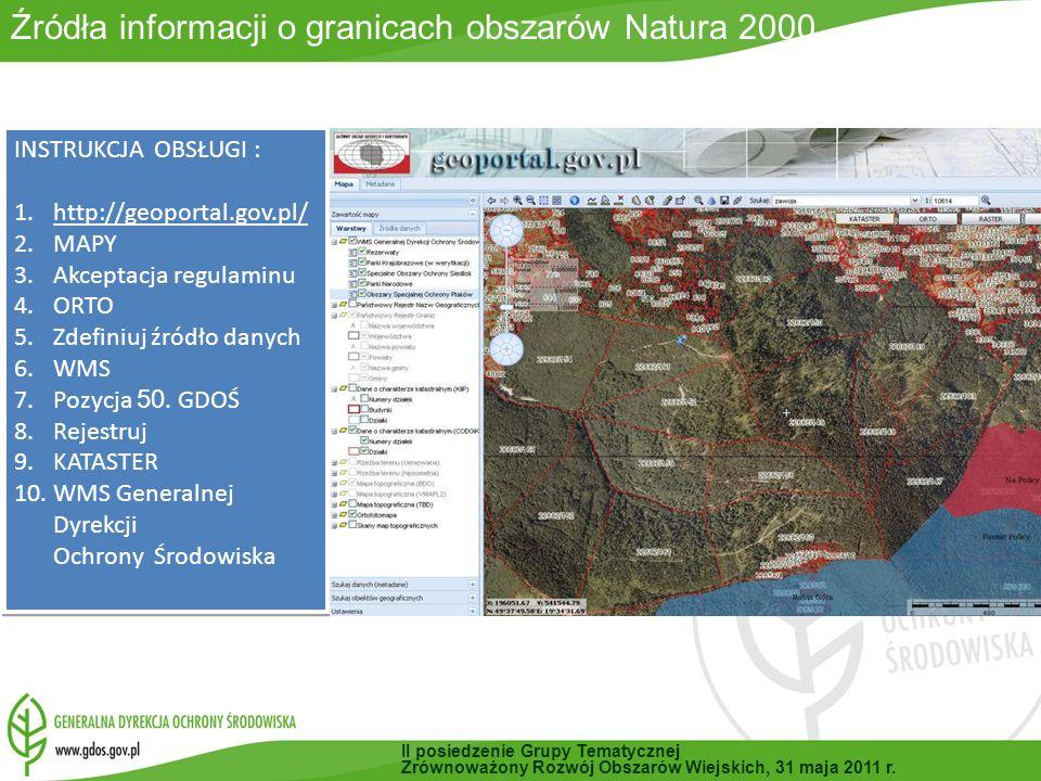 INSTRUKCJA OBSŁUGI : 1.http://geoportal.gov.pl/ 2.MAPY 3.Akceptacja regulaminu 4.ORTO 5.Zdefiniuj źródło danych 6.WMS 7.Pozycja 50.