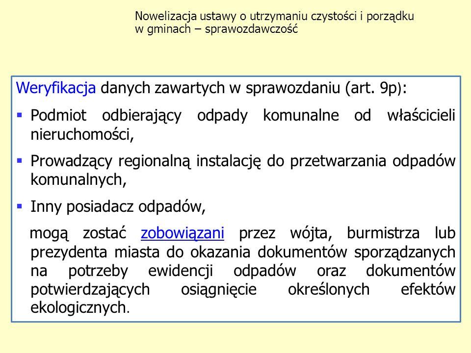 Sprawozdanie do marszałka województwa i wojewódzkiego inspektora ochrony środowiska zawiera (art.