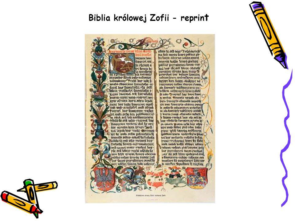 Biblia królowej Zofii - reprin t