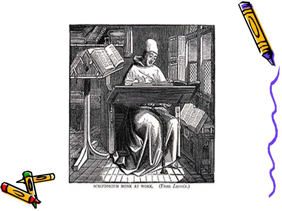 Najstarsze druki zwane inkunabułami miały wygląd pisma ręcznego, a wszelkie ozdoby, takie jak ilustracje, nagłówki rozdziałów i ich pierwsze litery, malowano ręcznie.