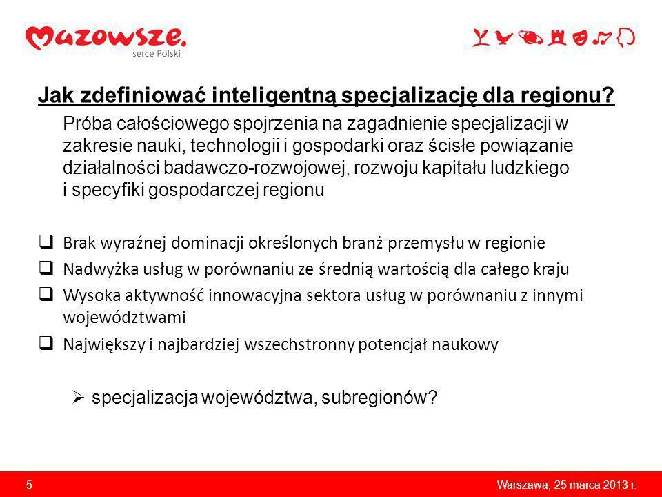 Jak zdefiniować inteligentną specjalizację dla regionu? Próba całościowego spojrzenia na zagadnienie specjalizacji w zakresie nauki, technologii i gos