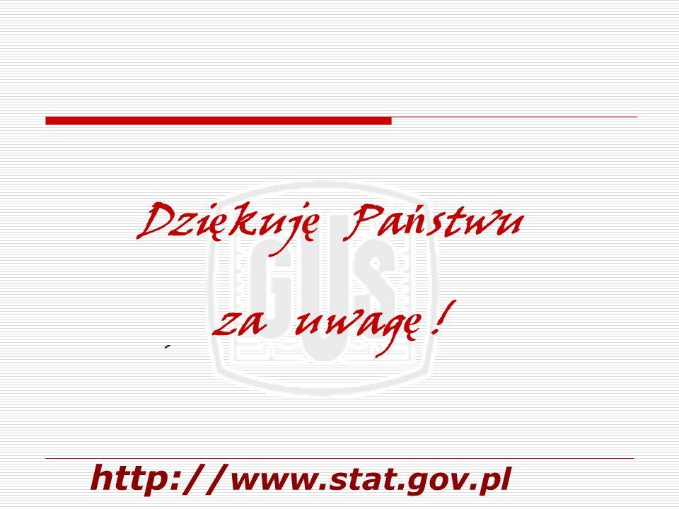 http:// www.stat.gov.pl Dzi ę kuj ę Pa ń stwu za uwag ę !