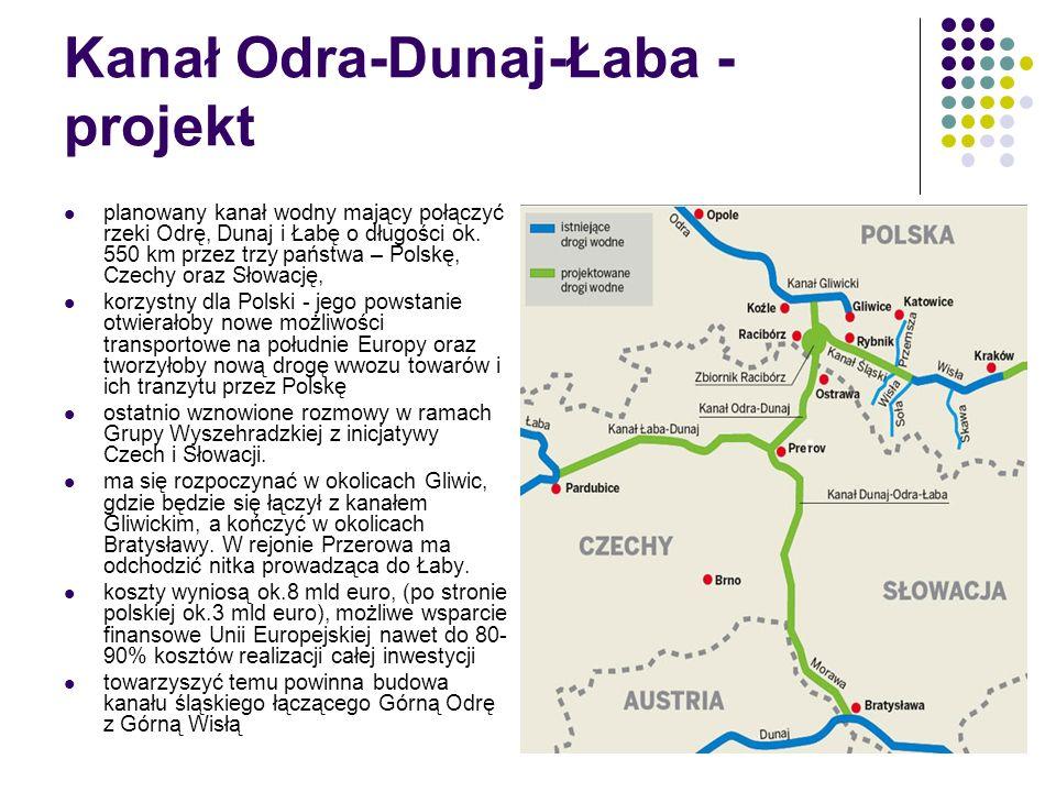 Kanał Odra-Dunaj-Łaba - projekt planowany kanał wodny mający połączyć rzeki Odrę, Dunaj i Łabę o długości ok. 550 km przez trzy państwa – Polskę, Czec