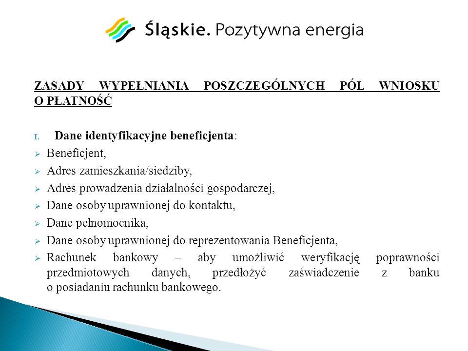 II.Dane z umowy o dofinansowanie: Tytuł operacji, Nr umowy o dofinansowanie (np.