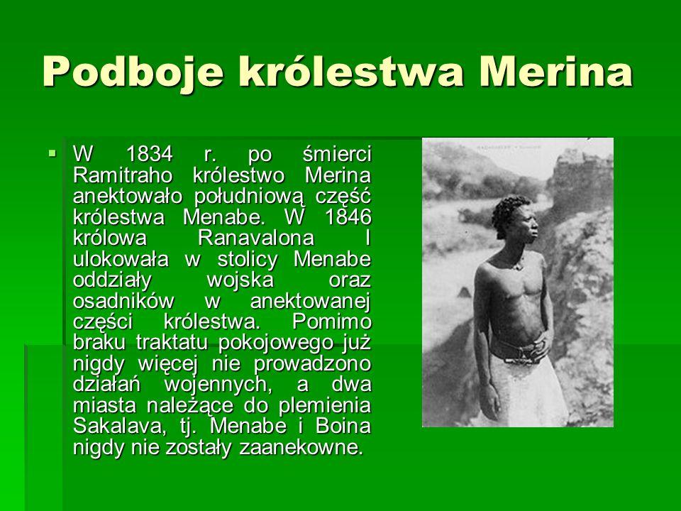 Podboje królestwa Merina W 1834 r.