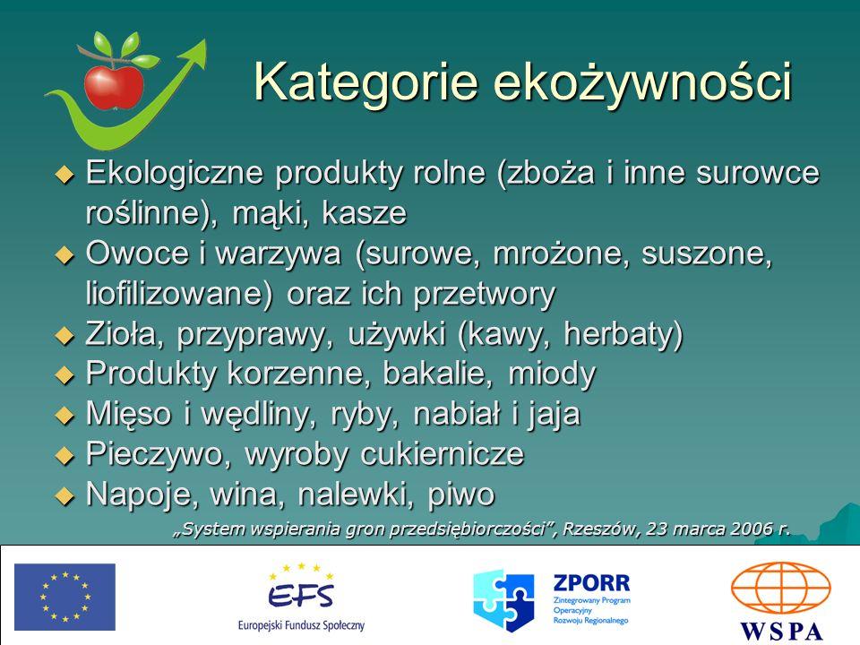 System wspierania gron przedsiębiorczości, Rzeszów, 23 marca 2006 r.