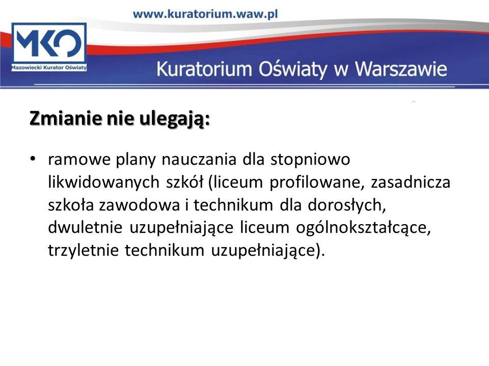 Nowa ramówka i nowe obowiązki dyrektora od 1 września Od 1 września 2012 r.