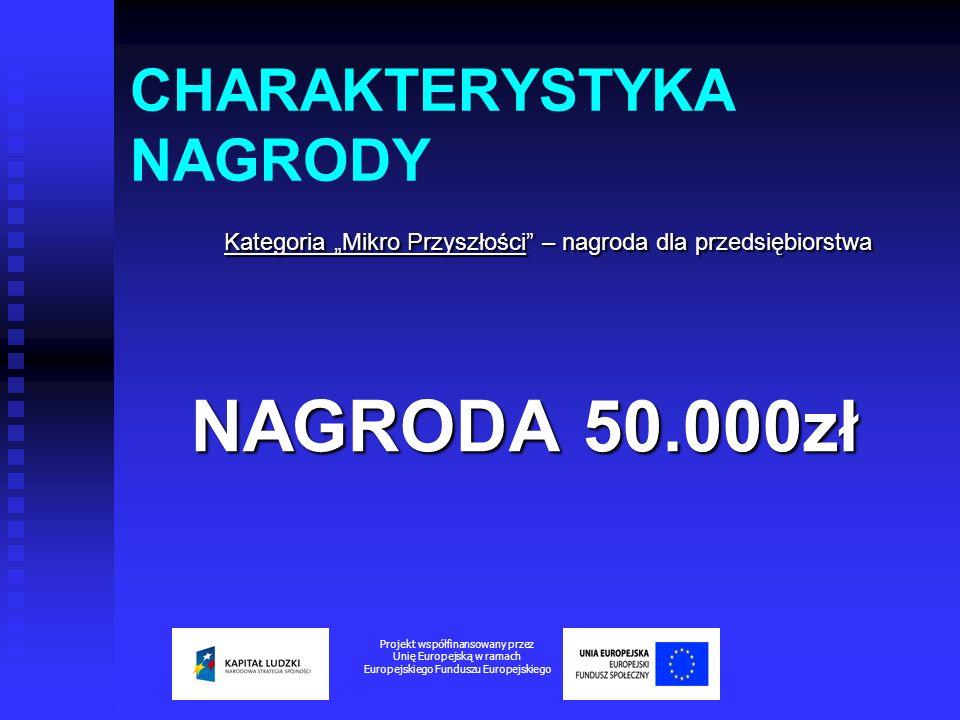 CHARAKTERYSTYKA NAGRODY Kategoria Mikro Przyszłości – nagroda dla przedsiębiorstwa Kategoria Mikro Przyszłości – nagroda dla przedsiębiorstwa NAGRODA