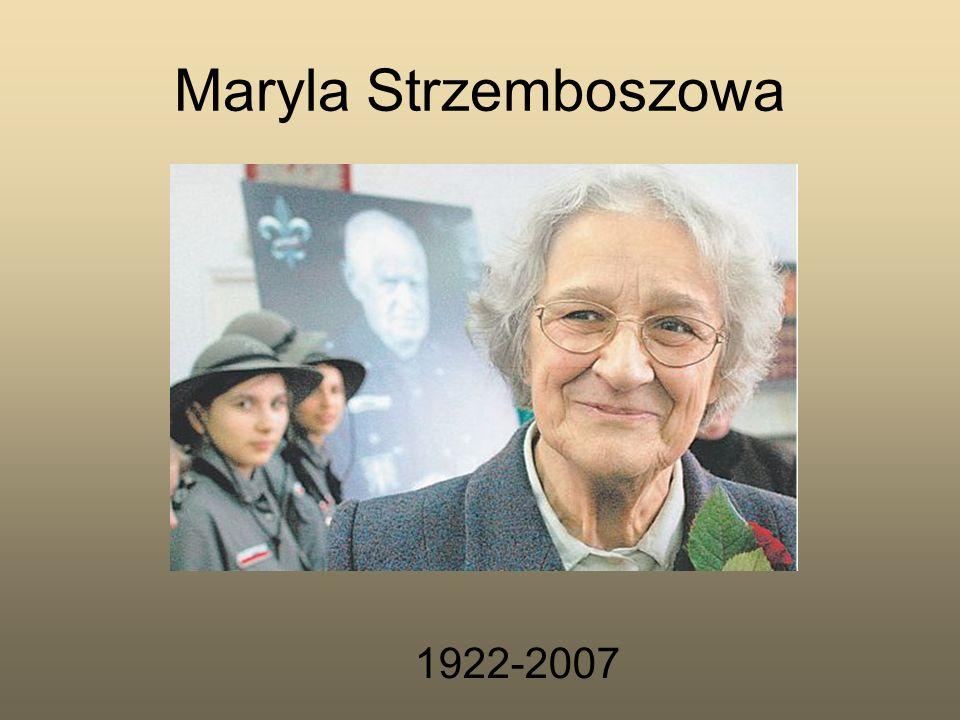 Maryla z domu Dawidowska Urodziła się 3 września 1922 r.