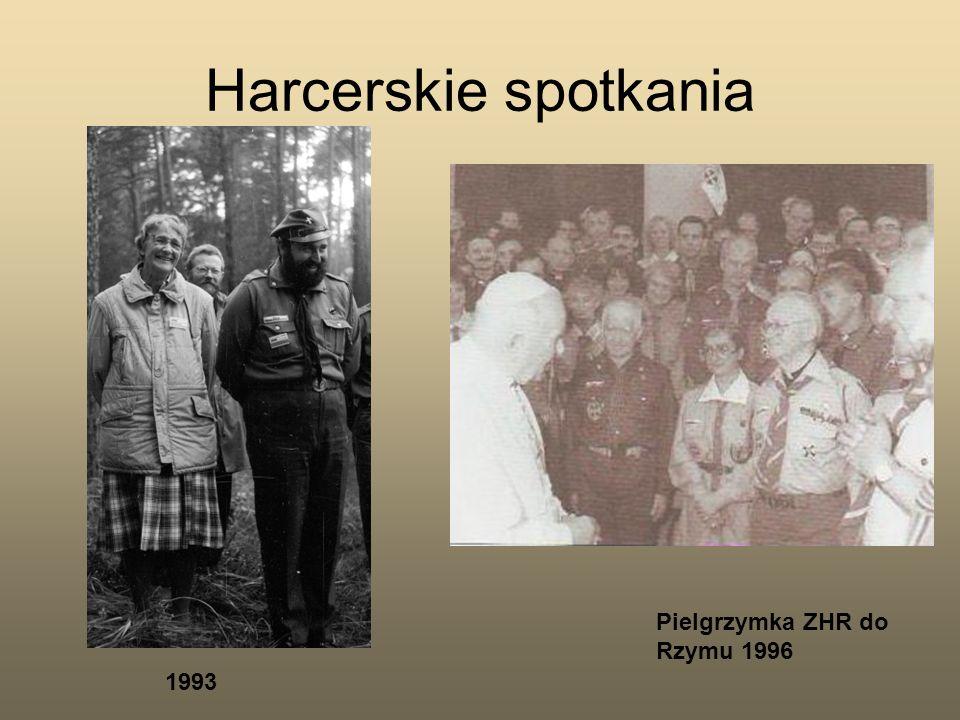 Harcerskie spotkania Pielgrzymka ZHR do Rzymu 1996 1993