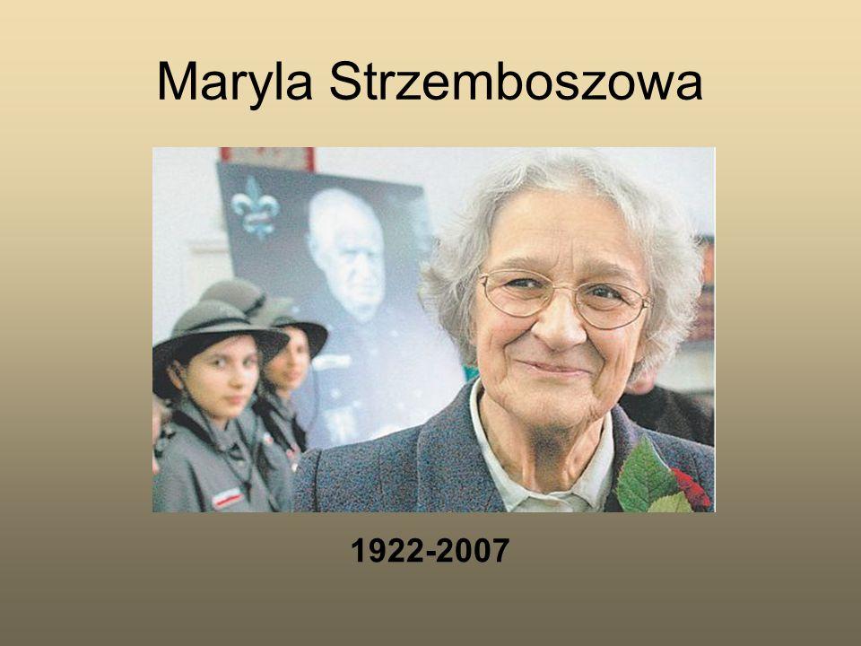 1922-2007 Maryla Strzemboszowa