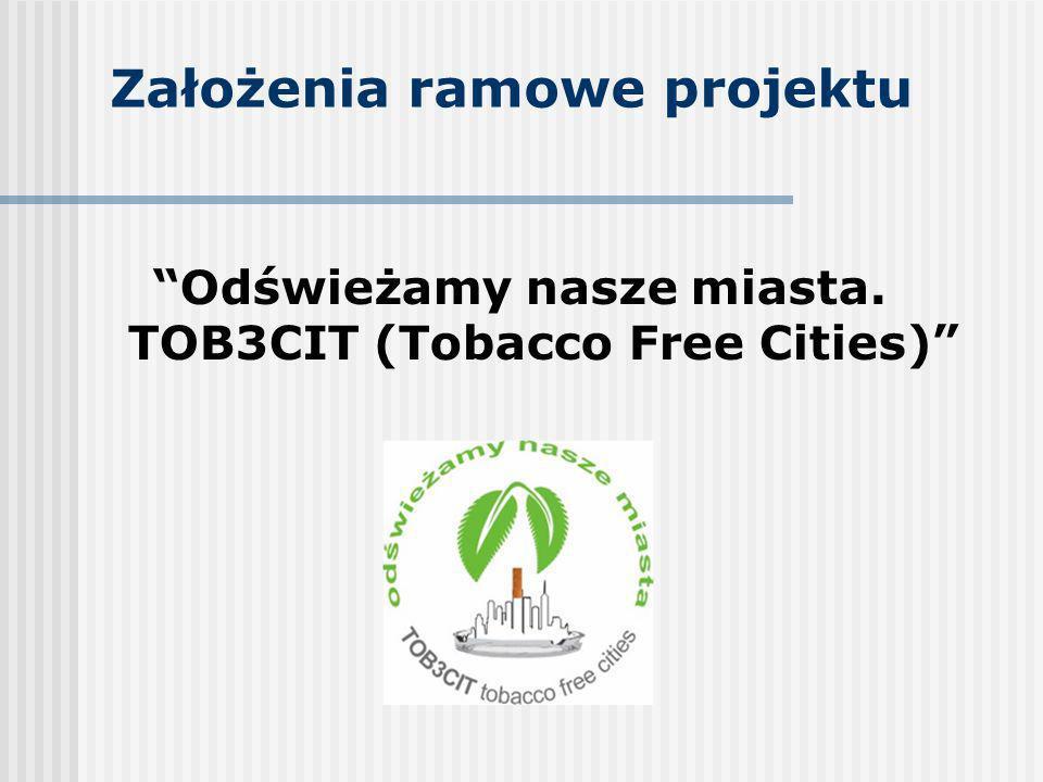 Założenia ramowe projektu Odświeżamy nasze miasta. TOB3CIT (Tobacco Free Cities)