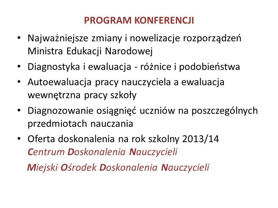 Zmiany i nowelizacje rozporządzeń Ministra Edukacji Narodowej z dnia 23 kwietnia 2013 r.
