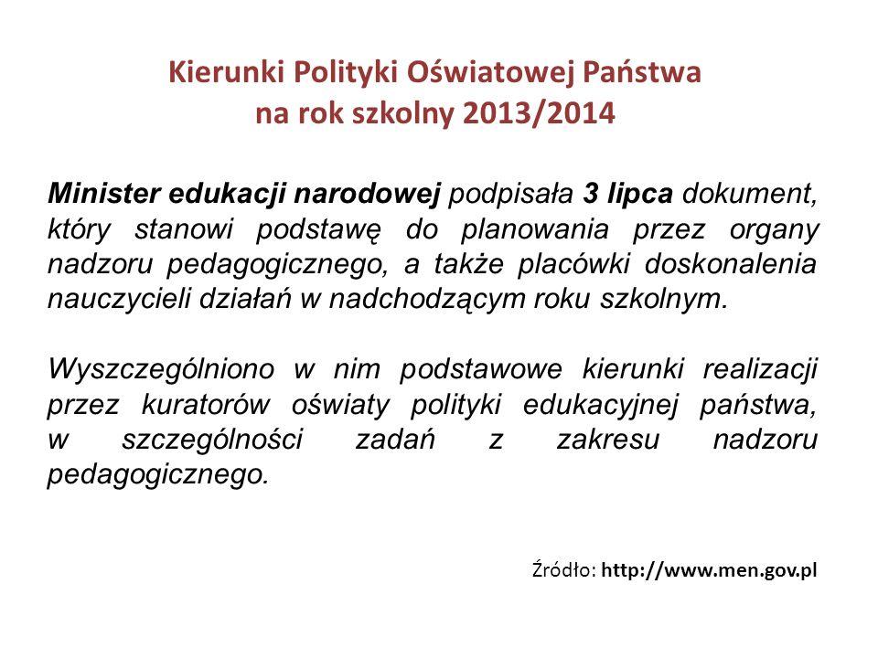 Zmiany i nowelizacje rozporządzeń Ministra Edukacji Narodowej z dnia 30 kwietnia 2013 r.