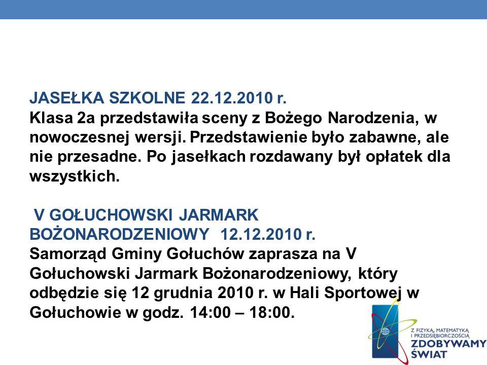WARSZTATY – CYBERPRZEMOC 08.12.2010 r.Uczniowie pracowali w grupach metodą projektu.