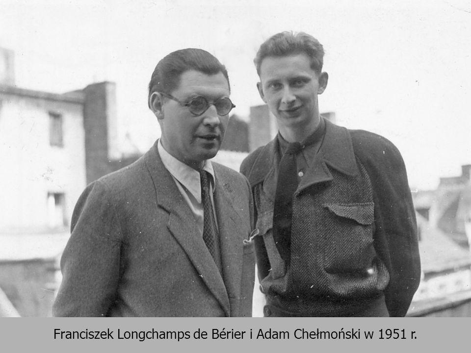 Franciszek Longchamps de Bérier i Adam Chełmoński w 1951 r.