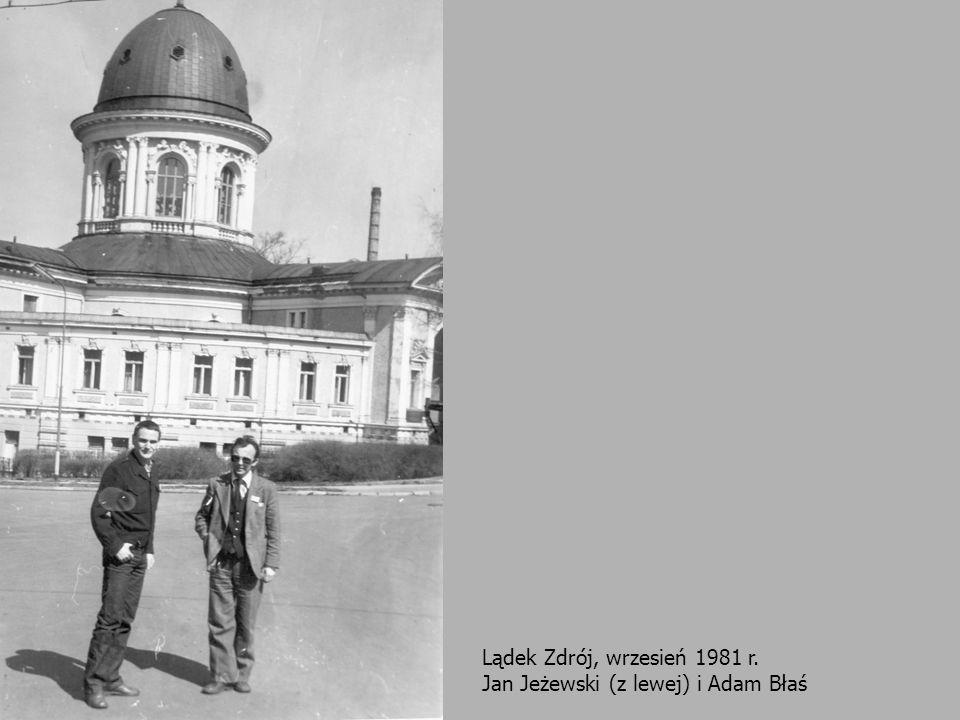 Lądek Zdrój, wrzesień 1981 r. Jan Jeżewski (z lewej) i Adam Błaś