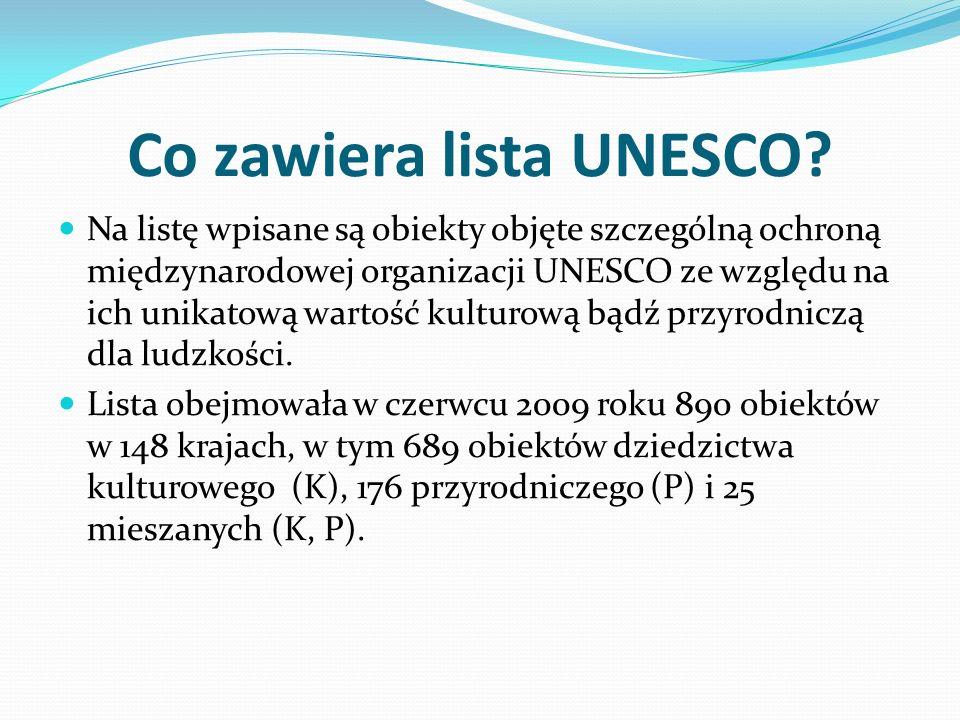 Polskie obiekty wpisane na listę: 1.1978 - Historyczne centrum Krakowa (K) 2.