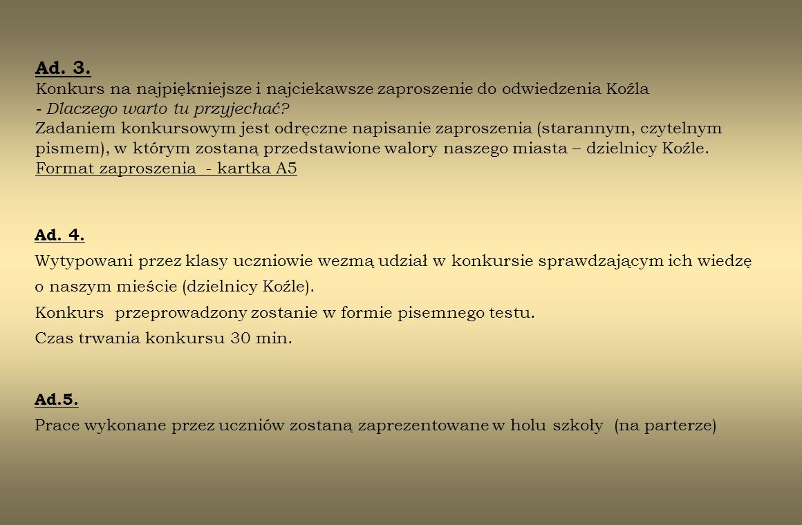Literatura zalecana Książki 1.Kędzierzyn-Koźle : monografia miasta : praca zbiorowa pod red.
