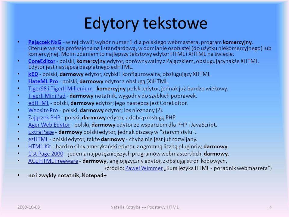 Edytory tekstowe Pajączek NxG - w tej chwili wybór numer 1 dla polskiego webmastera, program komercyjny.