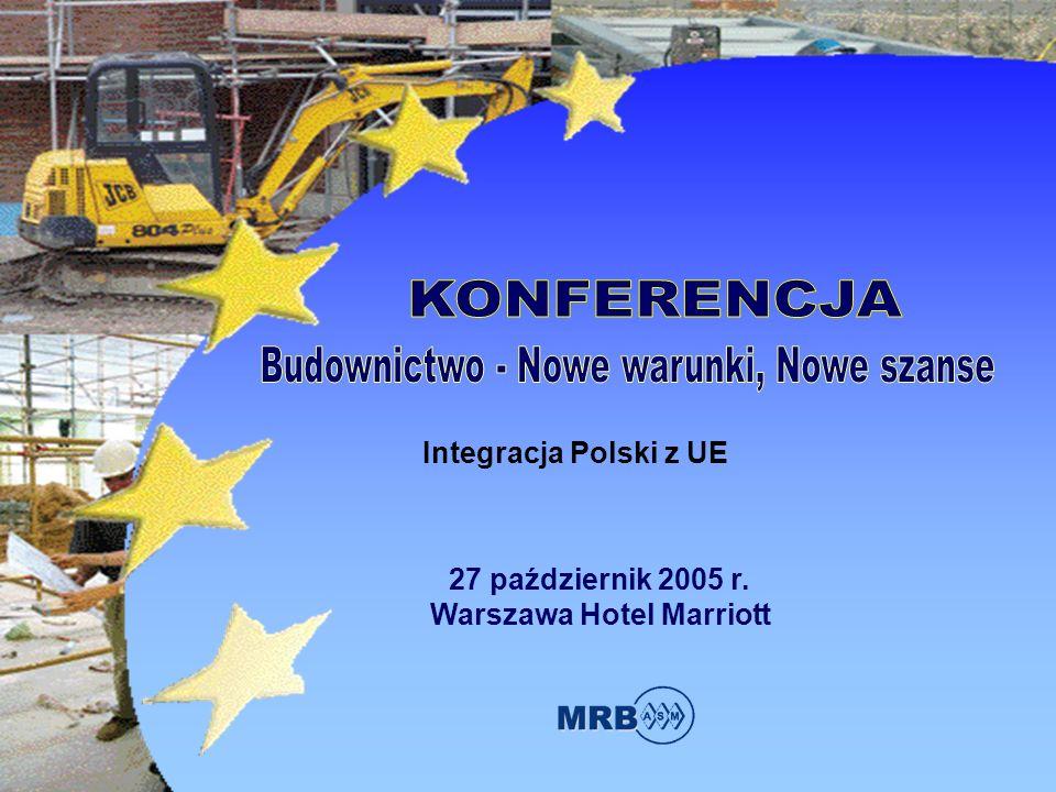 27 październik 2005 r. Warszawa Hotel Marriott Integracja Polski z UE