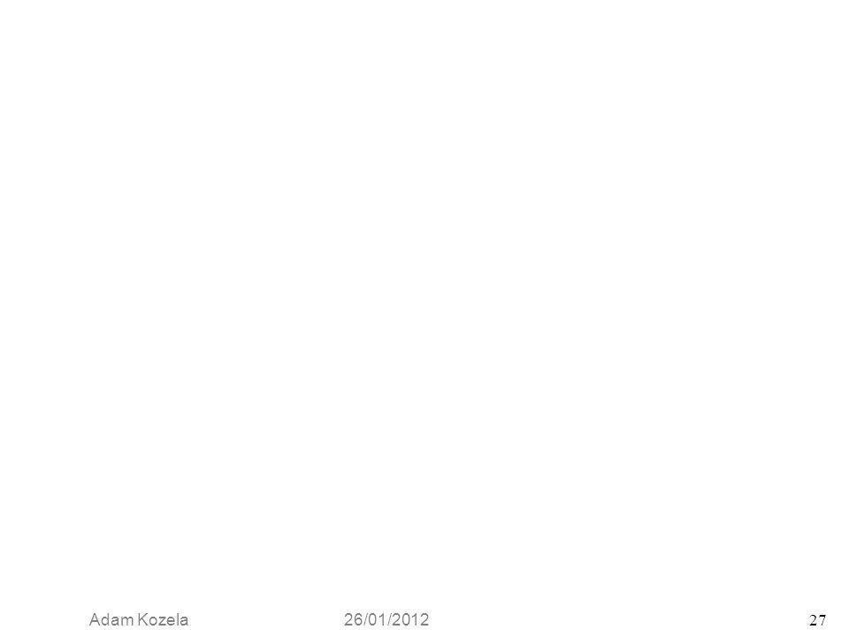 Adam Kozela 26/01/2012 27