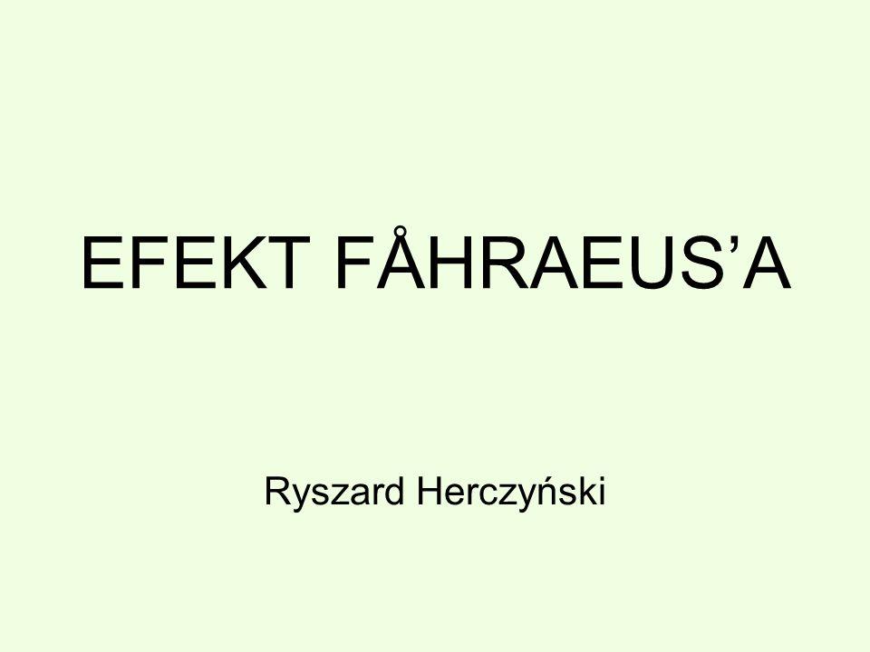 EFEKT FÅHRAEUSA Ryszard Herczyński
