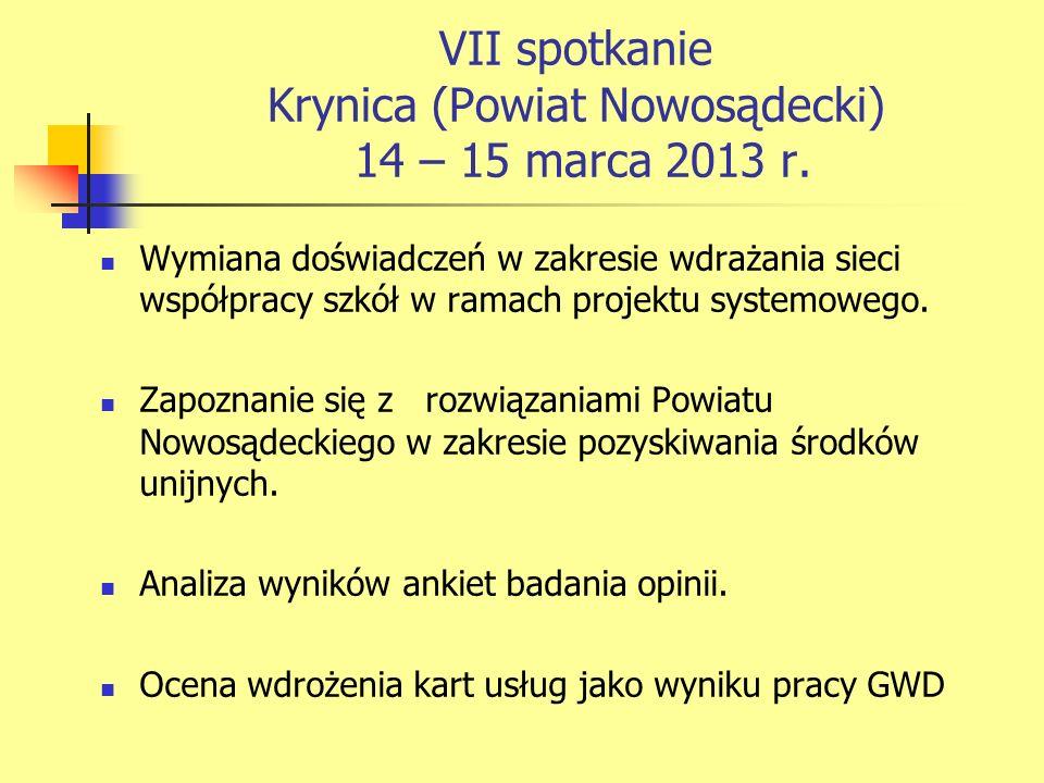 VII spotkanie Krynica (Powiat Nowosądecki) 14 – 15 marca 2013 r.