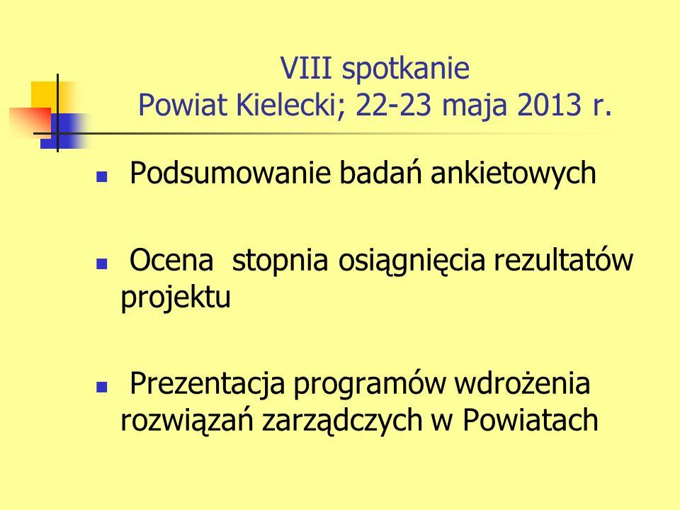 VIII spotkanie Powiat Kielecki; 22-23 maja 2013 r.