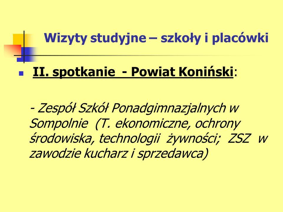 Wizyty studyjne – szkoły i placówki II.