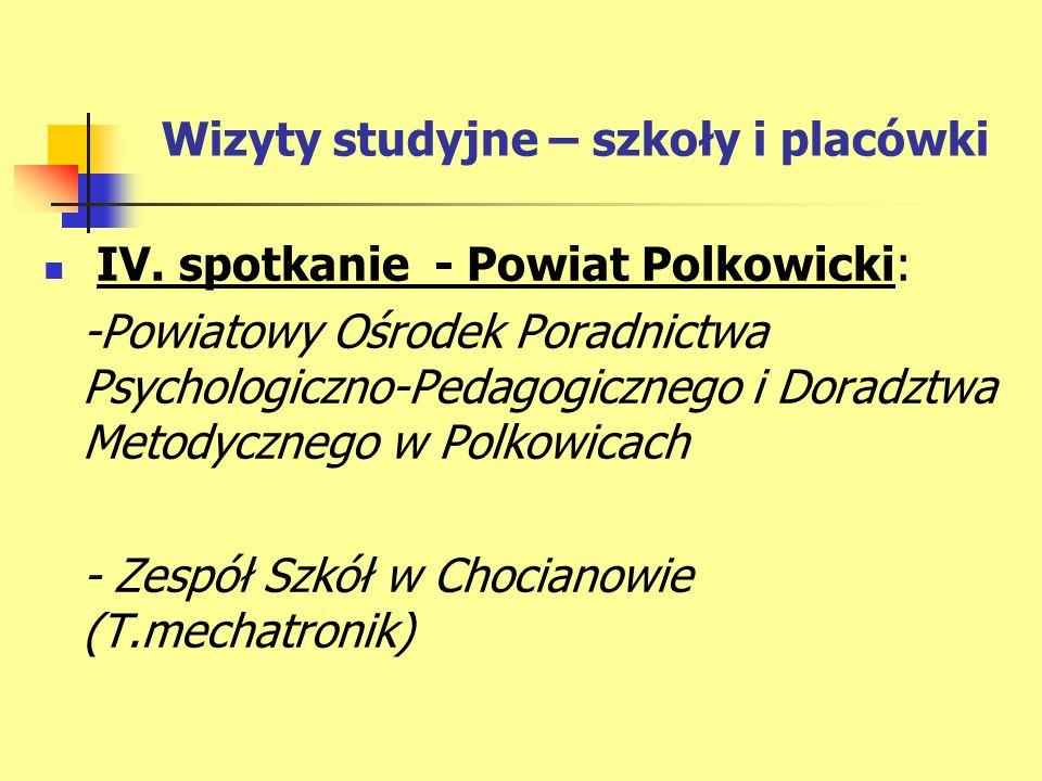 Wizyty studyjne – szkoły i placówki IV.