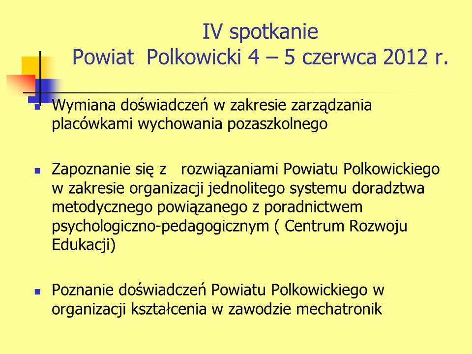 IV spotkanie Powiat Polkowicki 4 – 5 czerwca 2012 r.