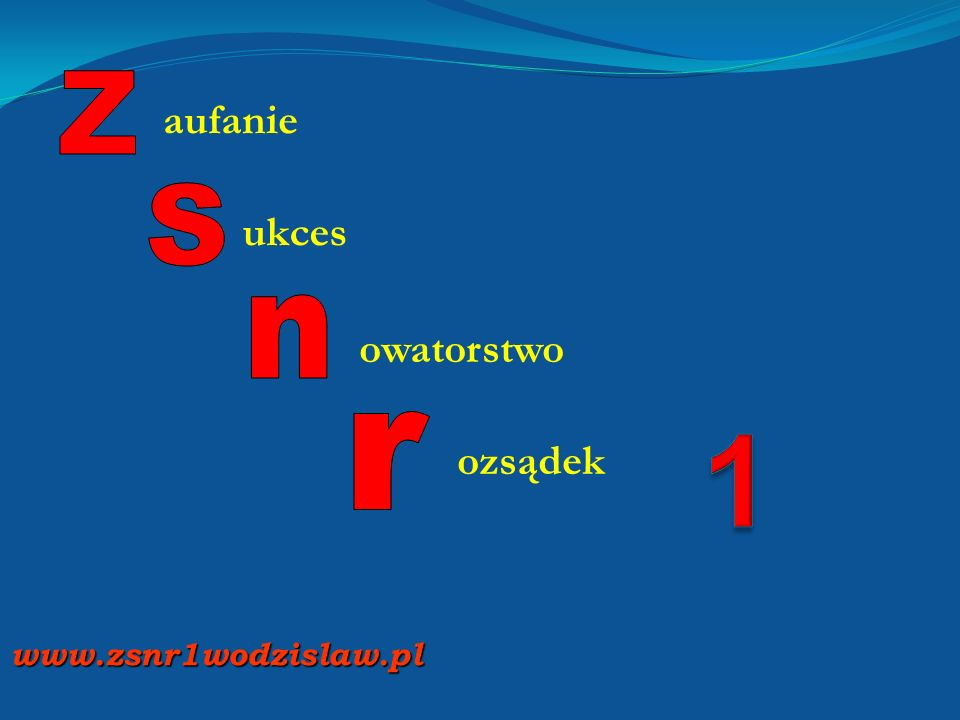 Z espół S zkół Nr 1 w Wodzisławiu Śląskim Z espół S zkół Nr 1 w Wodzisławiu Śląskim www.zsnr1wodzislaw.pl