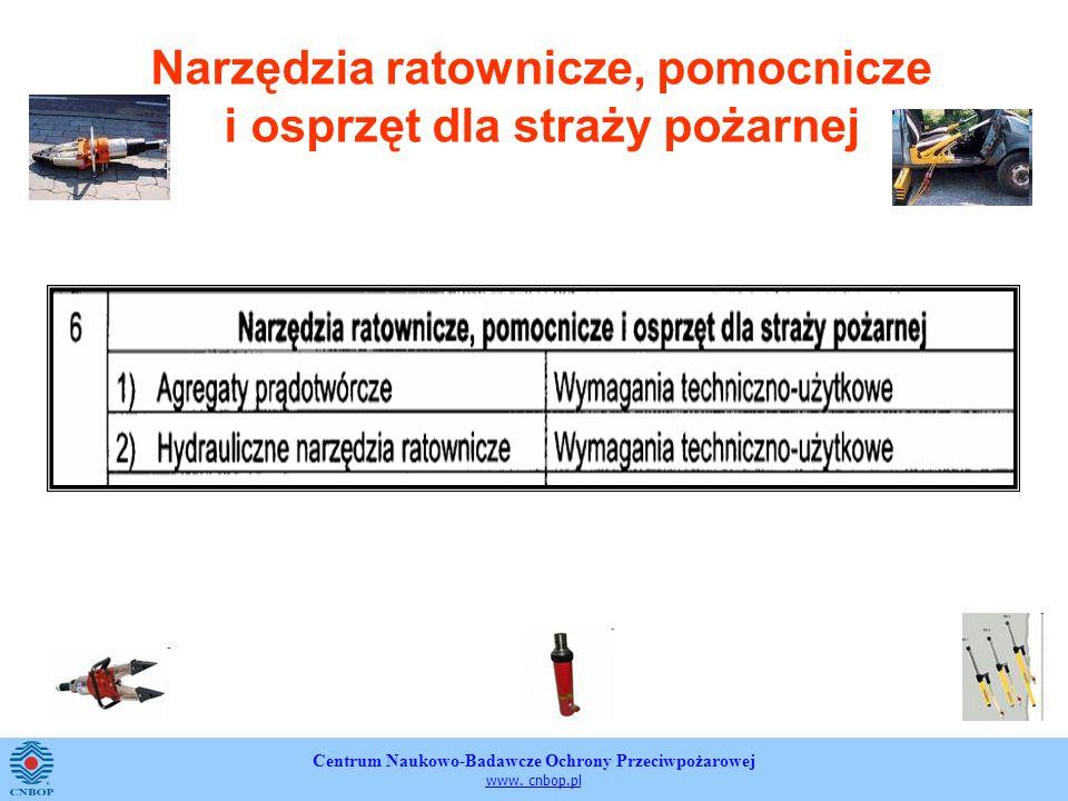 Centrum Naukowo-Badawcze Ochrony Przeciwpożarowej www. cnbop.pl Narzędzia ratownicze, pomocnicze i osprzęt dla straży pożarnej
